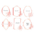 geometric frame with hand drawn floral vector image vector image