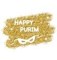 Golden Purim background vector image vector image