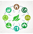 green ecology concept vector image vector image