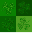 green seamless background with clover shamrock vector image