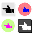 hand pointer flat icon vector image vector image