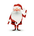 happy santa claus character to design banners vector image vector image