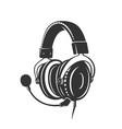 headphone icon monochrome style vector image vector image