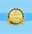 high quality best choice exclusive golden label vector image vector image