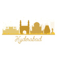 Hyderabad City skyline golden silhouette vector image vector image