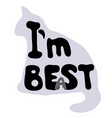 i am best or i am beast vector image vector image