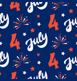 independence day of america festive pattern vector image