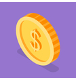 Isometric 3d of golden coin vector image