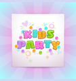 kids party square banner vector image vector image