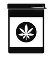 marijuana pill box icon simple style vector image