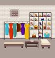 modern loft interior showroom fashion vector image