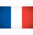 National flag of France vector image vector image