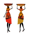 Native african women vector image