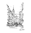 new york street sketch vector image vector image