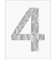 Number four on a white background vector image