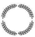 olive branches forming circle in monochrome color vector image vector image