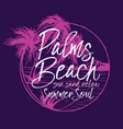 palm beach tropical summer soul vector image