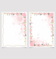 pink splash watercolor with cherry blossom branch vector image vector image