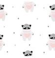 raccoon pattern vector image