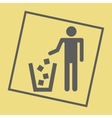 Recycling sign icon vector image vector image