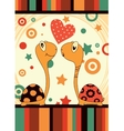 romantic love turtle vector image vector image