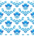 seamless pattern in style Gzhel vector image