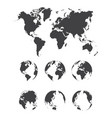 set of world map vector image vector image
