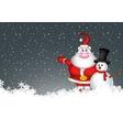 snowman and santa claus vector image