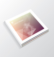 soft blurred mesh image with transparent geometric vector image vector image