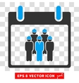 Staff Calendar Day Eps Icon vector image vector image