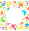 Summer floral design vector image