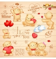 Teddy Bear for love background vector image vector image