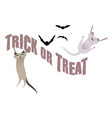 trick or treat funny cats having fun on halloween vector image vector image
