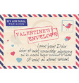 Valentines Day Vintage Template Background Stamps vector image vector image