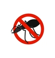 Warning sign with black ant icon vector image vector image