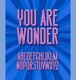 you are wonder super hero 3d vintage letters vector image vector image