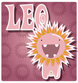 zodiac sign leo with cute colorful monster vector image vector image