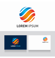 logo sphere orange blue vector image