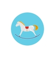 Icon Colorful Rocking Horse Merry Christmas vector image