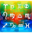 Set of astrological zodiac symbols Horoscope signs vector image