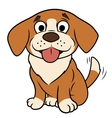 Smiling little puppy vector image