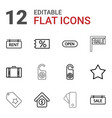 12 tag icons vector image vector image