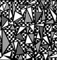 80s geometric seamless pattern in black and white vector image vector image