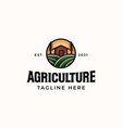 agriculture farm logo template isolated in white vector image
