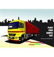 al 1026 truck 01 vector image vector image