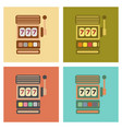 assembly flat icons poker slot machine vector image vector image