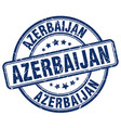 azerbaijan blue grunge round vintage rubber stamp vector image vector image