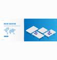banner online education landing page design vector image