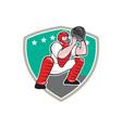 Baseball Catcher Catching Shield Cartoon vector image vector image