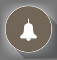 bell alarm hand bell sign white icon on vector image vector image